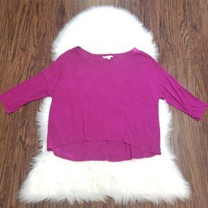 American Eagle Outfitters Purple High Low T-shirt